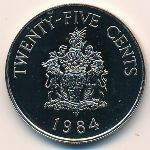 Bermuda Islands, 25 cents, 1984