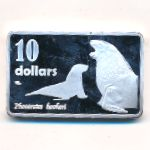Auckland Islands, 10 dollars, 2017