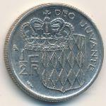 Монако, 1/2 франка (1965 г.)