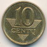 Литва, 10 центов (1997–2007 г.)