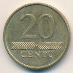 Литва, 20 центов (2008 г.)
