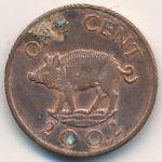 Бермудские острова, 1 цент (2002 г.)