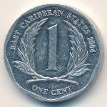 Восточные Карибы, 1 цент (2004 г.)