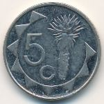 Намибия, 5 центов (1993–2012 г.)