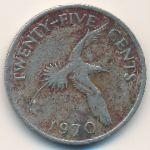 Бермудские острова, 25 центов (1970 г.)