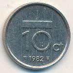 Нидерланды, 10 центов (1982–1999 г.)