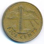 Барбадос, 5 центов (1973–2006 г.)