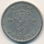 Норвегия, 1 крона (1954–1957 г.)