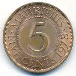 Маврикий, 5 центов (1978 г.)