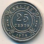 Белиз, 25 центов (1974 г.)