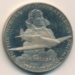 Маршалловы острова, 5 долларов (1990 г.)