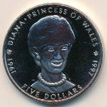 Маршалловы острова, 5 долларов (1997 г.)