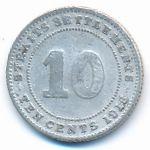 Стрейтс-Сетлментс, 10 центов (1918–1919 г.)