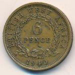 Британская Западная Африка, 6 пенсов (1940 г.)