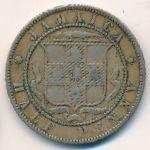 Ямайка, 1/2 пенни (1871 г.)