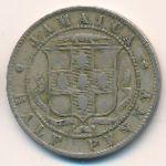 Ямайка, 1/2 пенни (1900 г.)