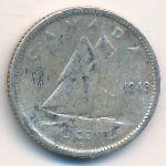 Канада, 10 центов (1943 г.)