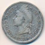 Доминиканская республика, 1/2 песо (1937–1952 г.)