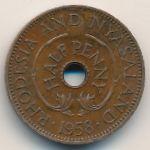 Родезия и Ньясаленд, 1/2 пенни (1958 г.)