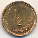 Родезия, 1/2 цента (1975 г.)