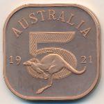 Австралия, 5 шиллингов (1921 г.)