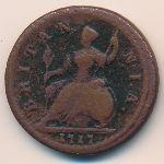 Великобритания, 1/2 пенни (1717 г.)