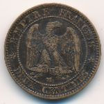 France, 2 centimes, 1853–1857
