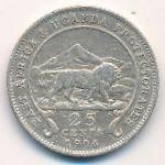 Восточная Африка, 25 центов (1906–1910 г.)