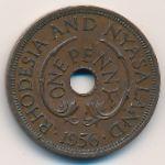 Родезия и Ньясаленд, 1 пенни (1956 г.)