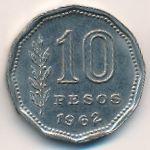 Аргентина, 10 песо (1962 г.)