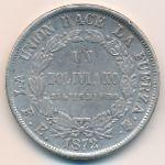 Боливия, 1 боливиано (1872 г.)