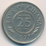 Гайана, 25 центов (1967–1977 г.)