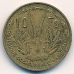 Французская Западная Африка, 10 франков (1956 г.)