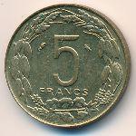 Экваториальные Африканские Штаты, 5 франков (1961 г.)