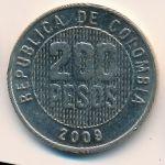 Колумбия, 200 песо (2009 г.)