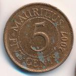 Маврикий, 5 центов (1999–2007 г.)