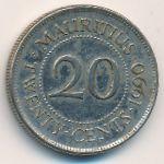 Маврикий, 20 центов (1987–1990 г.)