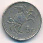 Мальта, 5 центов (1986 г.)