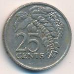 Тринидад и Тобаго, 25 центов (1983 г.)
