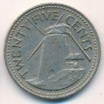 Барбадос, 25 центов (1973–2004 г.)