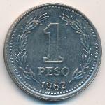 Аргентина, 1 песо (1962 г.)