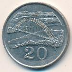 Зимбабве, 20 центов (1987 г.)