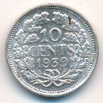 Нидерланды, 10 центов (1939 г.)