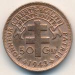 Французская Экваториальная Африка, 50 сентим (1943 г.)