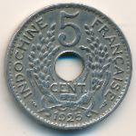 Французский Индокитай, 5 центов (1924–1937 г.)