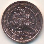 Литва, 2 евроцента (2017 г.)