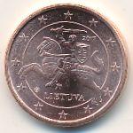 Литва, 1 евроцент (2017 г.)