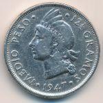 Доминиканская республика, 1/2 песо (1947 г.)