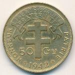 Французская Экваториальная Африка, 50 сентим (1942 г.)