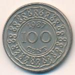 Суринам, 100 центов (1987 г.)